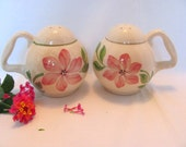Hull Pottery Shakers Blossom Pattern Shakers Cinderella Line Made in 1949
