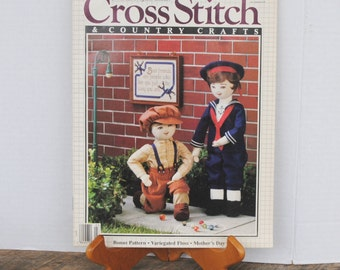 Cross Stitch and Country Crafts Magazine March April 1988