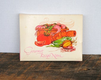 Vintage Gourmet Recipe Note Cards By Current Inc 1970s