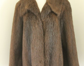 Vintage Womans Coat Furs Up at Alexander's