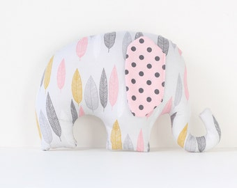 Tribal Feather Elephant soft toy / plush toy for baby.