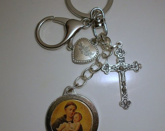 Saint Anthony Blessed Relic Keychain