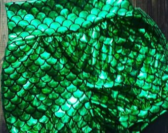 Girl Shiny Mermaid Bloomers Shorts, Custom Handmade Toddler Bubble Knit Shorts, Mermaid Scale Fabric, 6m to Girl 5