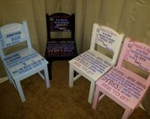 Personalized Time Out Chairs