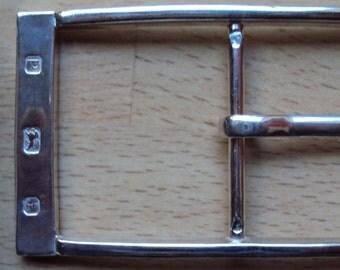 Art Deco Style Solid Sterling Silver Belt Buckle 'The Burlington' with Belt Keeper
