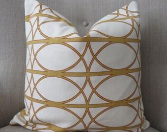 18x18 Pillow cover,Cream mustard pillow, Mustard pillow,Dwell studio pillow, Pillow cover, Pillow, Mustard pillow cover, Cream pillow
