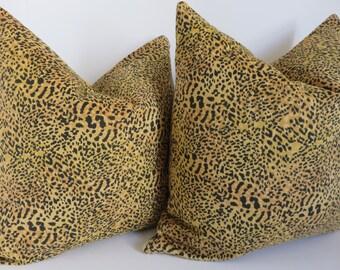 Pillow cover, Leopard Pillow Cover, Decorative Pillow Cover, Mustard Black Pillow Cover, Leopard Pillow, Pillow Cover, Pillow