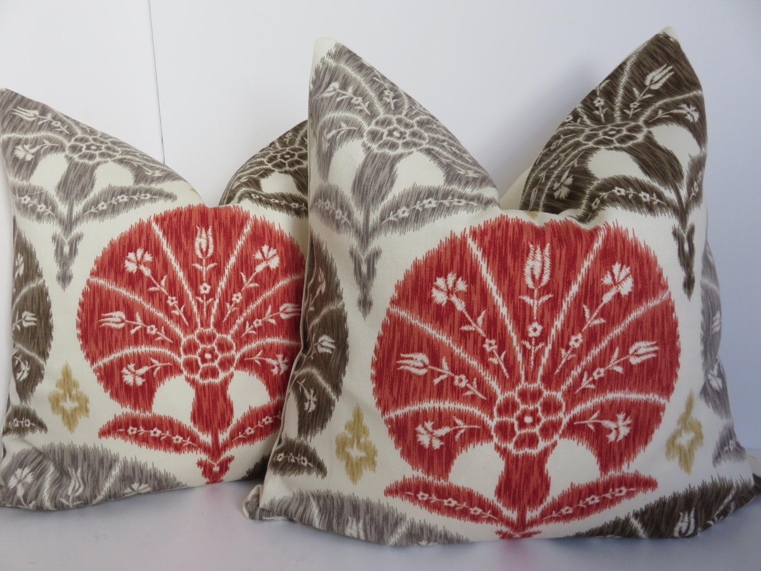 2 pillow covers set pillows red brown pillow by clavelfashion. Black Bedroom Furniture Sets. Home Design Ideas