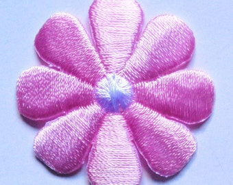 daisy pink and white iron on