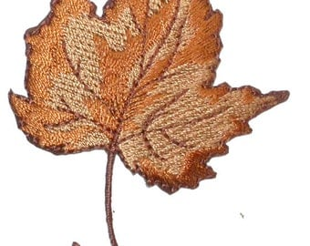 Iron On Patch Applique - Fall Maple Leaf