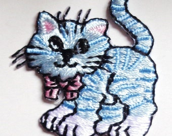 cat iron on applique