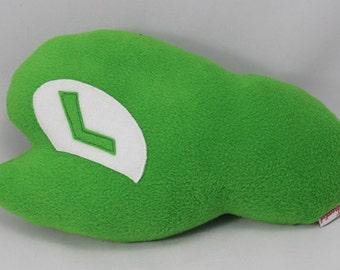 Luigi Hat Shaped Cushion Super Mario