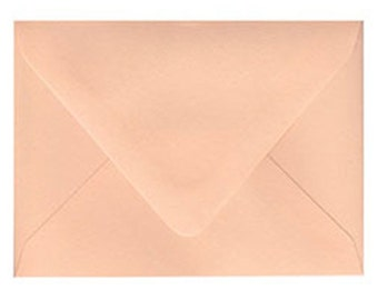 "10 Peach A6 Envelopes 4 3/4"" x 6 1/2"""