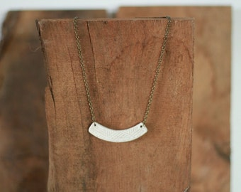 Aztec Arch Necklace / Ceramic Jewelry