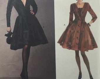 Vintage Sewing Pattern Vogue Paris Original 1016 Yves Saint Laurent Misses Dress and Camisole ©1992 Size 12-14-16 FF