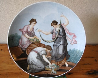 Vintage Bareuther Bavaria Germany Franceso Bartolozzi Seasons Plate Spring Bareuther Waldsassen Plate from The Eclectic Interior