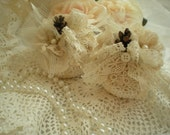 SALE...Rustic Romance Mini Pumpkins Set Of 2 In Shades Of Ivory OOAK By SincerelyRaven On Etsy