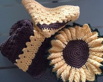 Sunflower Dish cloth set