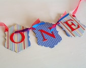 First Birthday ONE Banner - Red, Blue, Yellow - Carnival, Circus Theme Party - High Chair Sign, Photo Prop