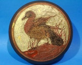 Vintage 50's 60's Midcentury Brass Box Van Gogh Duck