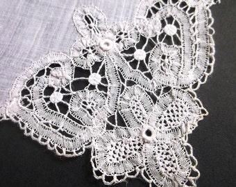 Lace Handkerchief, Antique, Wedding Hankie, Bridal Handkerchief, Vintage Hankie, Wedding Hankies, Wedding Handkerchiefs, All Vintage Hankies