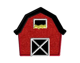 Barn Applique Embroidery Design for Machine Embroidery-INSTANT DOWNLOAD