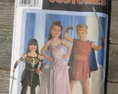 simplicity costumes pattern 7834 size A 3 4 5 6 7 8 kids uncut 1997