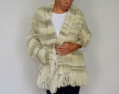 Oversized blanket scarves, Large Handwoven shawl, Ikat Green pashmina merino wool, Yerba mate fashion, SALE Autumn handmade gifts