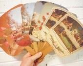 Vintage funeral fans religious decor Southern church paper ephemera