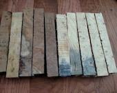 10 Stabilized Pen Blanks, 5 redwood burl, 5 buckeye burl