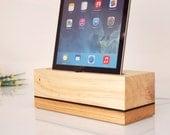 iPad Air 1/2 Wooden Dock - Modern Minimalistic Design - Can Serve as iPad Air holder / iPad Air stand...