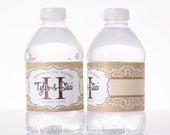 100 Rustic Wedding Decor - Water Bottle Labels - Barn Wedding Water Labels