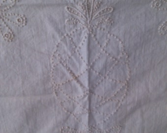 Canlewick or French Embroidry Pineapple from Hawaii for aQuilt Piece or Pillow Cover