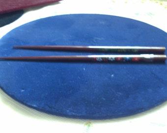 REDUCED  Flowered Hair Chop Sticks,