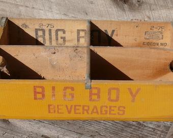1975 Rare Collector Big Boy Beverages - Soda crate - Vintage Big Boy