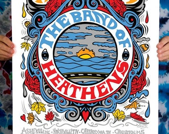 Screen Print The Band Of Heathens Fall Tour AP Edition of 10