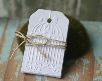 10 Bird Cage Gift Tags ~ Christmas ~ Ready to Post