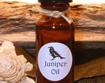 JUNIPER OIL - Essential Oil Blend - .5 (1/2 oz) Amber glass bottle.