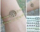 Tree of life, Gemstone Bracelet, Tree bracelet. Rosary bracelet, gold bracelet, Yoga bracelet, Tree of life bracelet, Reiki bracelet, tree