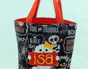 Trick or Treat Bag with Ghost