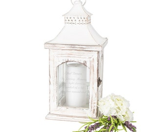 Personalized Engraved Memorial Rustic Lantern Candle Holder