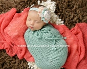 Mint Newborn Swaddle Sack - Photo Prop - Ready to Ship