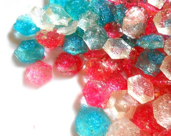 SHIMMER and SHINE Candy, Diamonds, Hot Pink, Bright Blue, Multi Color Gems, Cupcake Toppers, Edible Gems,Kids Parties, Sugar Gems,