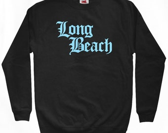 Long Beach Gothic Sweatshirt - Men S M L XL 2x 3x - Cali Crewneck - 4 Colors