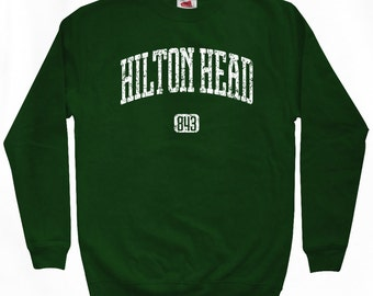 Hilton Head 843 Sweatshirt - Men S M L XL 2x 3x - South Carolina Crewneck - 4 Colors