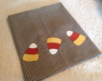 Candy Corn Appliqued Tea Towel
