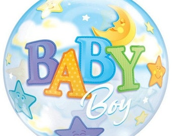 It's a Boy/It's a Girl Bubble Balloon measuring 22 inches in diameter for Baby Showers.