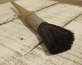 Vintage Painters Wood Handle Brush / Natural Bristles / Artist Brush / Paint Brush /  Wood Handled Paint Brush / Mop Brush