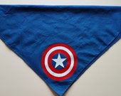 Screen Printed Bandana - Captain America Shield - avengers, marvel, superhero