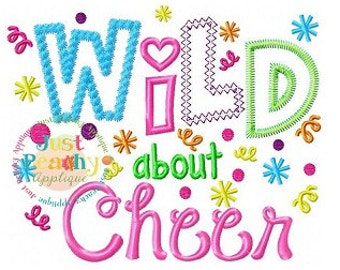 Wild About Cheer Machine Embroidery Applique Design